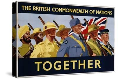 The British Commonwealth of Nations - Together Poster--Stretched Canvas Print