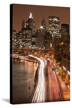 Brooklyn Bridge and Manhattan Skyline, New York City-Paul Souders-Stretched Canvas Print