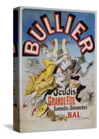 Bullier Poster-Jules Ch?ret-Stretched Canvas Print