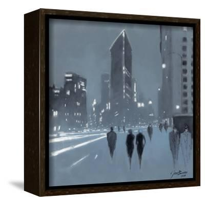 The Flat Iron Building, New York-Jon Barker-Framed Stretched Canvas Print