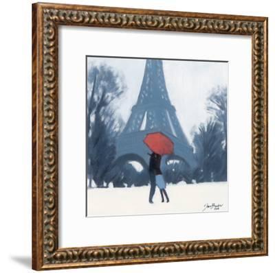 Snow Time For A Kiss-Jon Barker-Framed Giclee Print