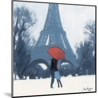 Snow Time For A Kiss-Jon Barker-Mounted Giclee Print