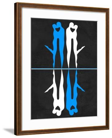 Blue and White Kiss-Felix Podgurski-Framed Art Print