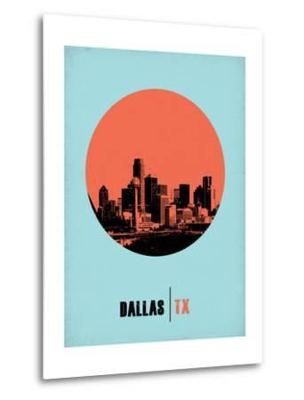 Dallas Circle Poster 1-NaxArt-Metal Print