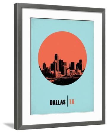 Dallas Circle Poster 1-NaxArt-Framed Art Print