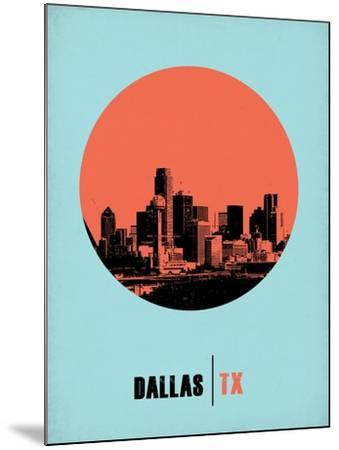 Dallas Circle Poster 1-NaxArt-Mounted Art Print
