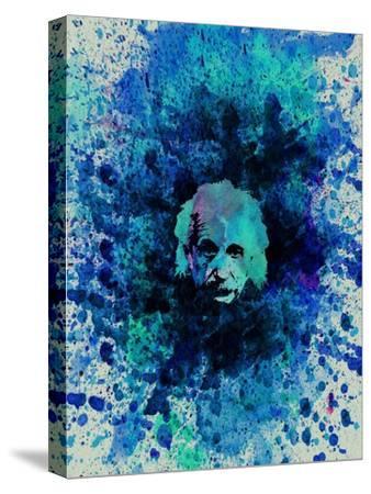 Einstein Watercolor 2-Anna Malkin-Stretched Canvas Print