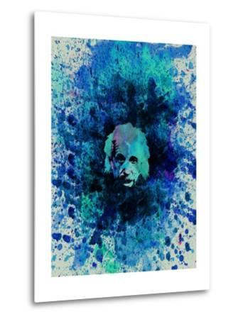 Einstein Watercolor 2-Anna Malkin-Metal Print