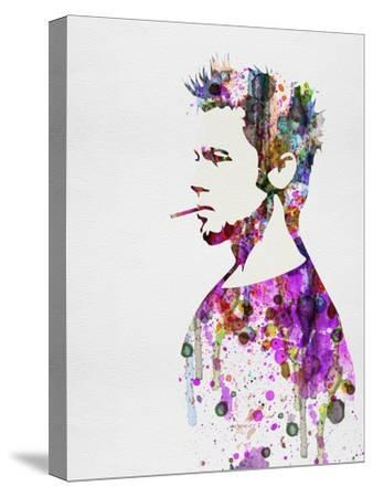 Fight Club Watercolor-Anna Malkin-Stretched Canvas Print