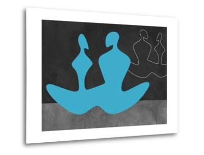 Blue Couple 2-Felix Podgurski-Metal Print