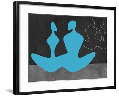 Blue Couple 2-Felix Podgurski-Framed Art Print
