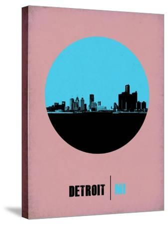 Detroit Circle Poster 1-NaxArt-Stretched Canvas Print