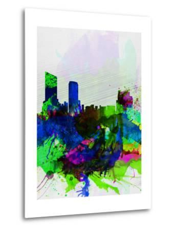 Grand Rapids Watercolor Skyline-NaxArt-Metal Print