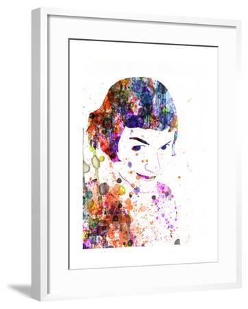Amelie Watercolor-Anna Malkin-Framed Art Print