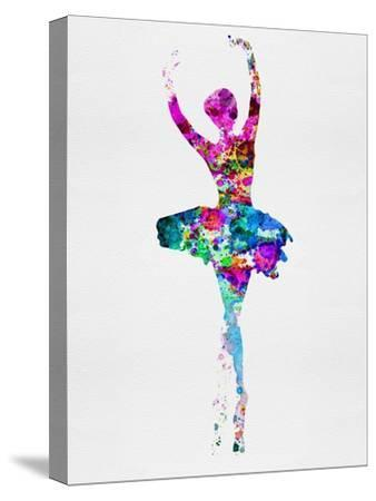 Ballerina Watercolor 1-Irina March-Stretched Canvas Print