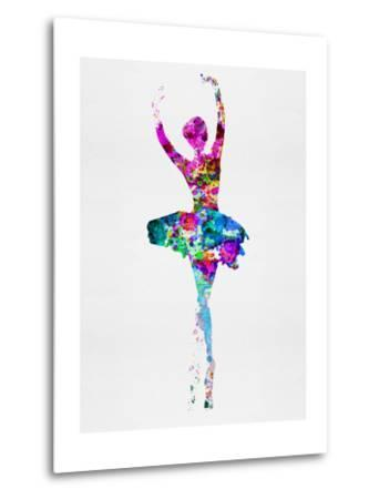 Ballerina Watercolor 1-Irina March-Metal Print