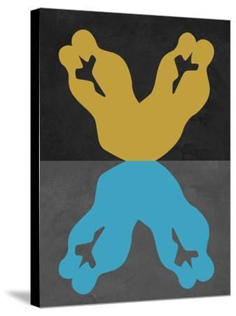 Yellow and Blue Kiss-Felix Podgurski-Stretched Canvas Print