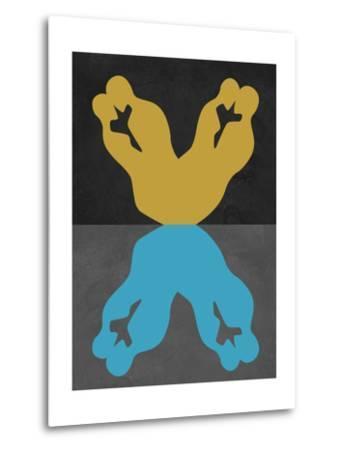 Yellow and Blue Kiss-Felix Podgurski-Metal Print