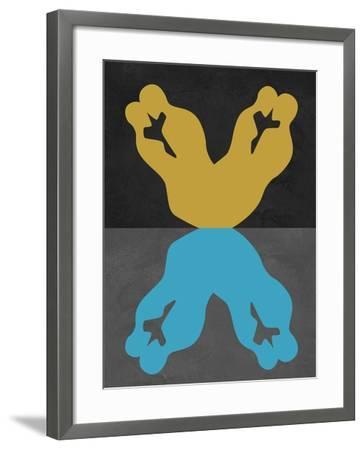 Yellow and Blue Kiss-Felix Podgurski-Framed Art Print