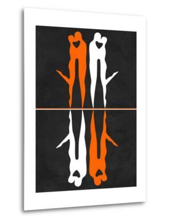 Orange and White Kiss-Felix Podgurski-Metal Print