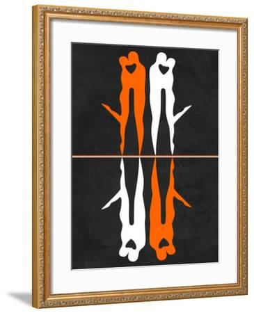 Orange and White Kiss-Felix Podgurski-Framed Art Print