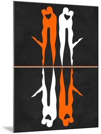 Orange and White Kiss-Felix Podgurski-Mounted Art Print