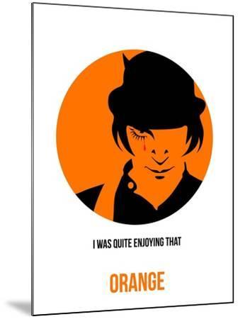 Orange Poster 1-Anna Malkin-Mounted Art Print