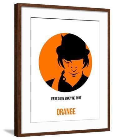 Orange Poster 1-Anna Malkin-Framed Art Print