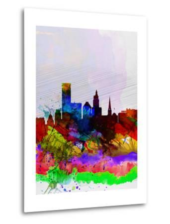 Providence Watercolor Skyline-NaxArt-Metal Print