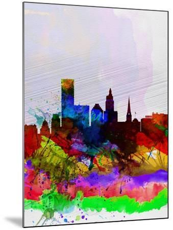 Providence Watercolor Skyline-NaxArt-Mounted Art Print