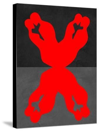 Red Kiss 1-Felix Podgurski-Stretched Canvas Print