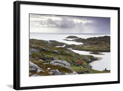 View Out to Sea over Abandoned Crofts at the Township of Manish-Lee Frost-Framed Photographic Print