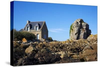 Pors Hir Harbour, Cote De Granit Rose, Cotes D'Armor, Brittany, France, Europe-Tuul-Stretched Canvas Print