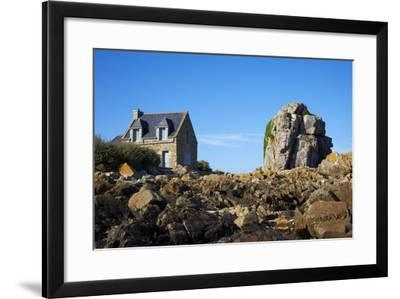 Pors Hir Harbour, Cote De Granit Rose, Cotes D'Armor, Brittany, France, Europe-Tuul-Framed Photographic Print