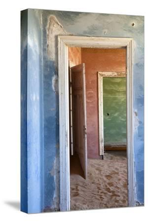 Interior of Building Slowly Being Consumed by the Sands of the Namib Desert-Lee Frost-Stretched Canvas Print