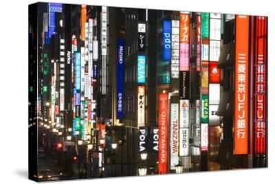 Chuo-Dori, Elevated View at Dusk Along Tokyo's Most Exclusive Shopping Street-Gavin Hellier-Stretched Canvas Print