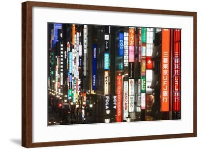 Chuo-Dori, Elevated View at Dusk Along Tokyo's Most Exclusive Shopping Street-Gavin Hellier-Framed Photographic Print