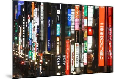 Chuo-Dori, Elevated View at Dusk Along Tokyo's Most Exclusive Shopping Street-Gavin Hellier-Mounted Photographic Print