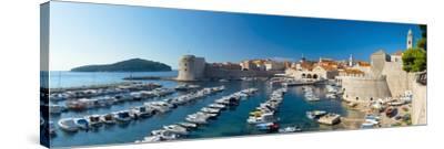 Old Harbour and Town (Stari Grad), UNESCO World Heritage Site, Dubrovnik, Dalmatia, Croatia, Europe-Alan Copson-Stretched Canvas Print