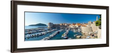 Old Harbour and Town (Stari Grad), UNESCO World Heritage Site, Dubrovnik, Dalmatia, Croatia, Europe-Alan Copson-Framed Photographic Print