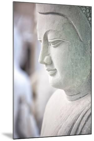Marble Buddha Images Waiting to Be Finished at a Stone Carver's in Amarapura-Lee Frost-Mounted Photographic Print