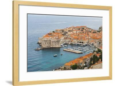 Elevated View of Dubrovnik Old Town-Matthew Williams-Ellis-Framed Photographic Print