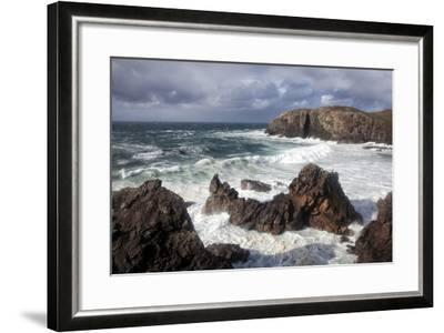 Heavy Seas Pounding the Rocky Coastline at Dalbeg-Lee Frost-Framed Photographic Print
