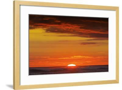 Sunset and Sunlit Clouds over Playa Guiones Surf Beach-Rob Francis-Framed Photographic Print
