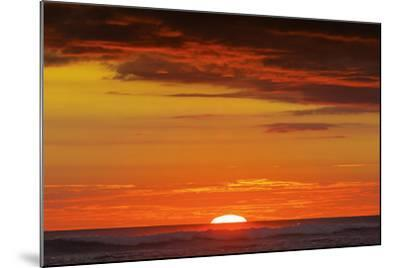 Sunset and Sunlit Clouds over Playa Guiones Surf Beach-Rob Francis-Mounted Photographic Print