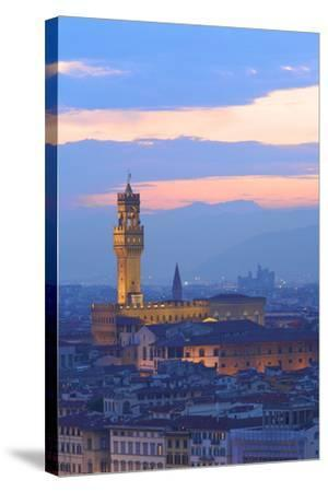 Palazzo Vecchio from Piazzale Michelangelo-Neil Farrin-Stretched Canvas Print