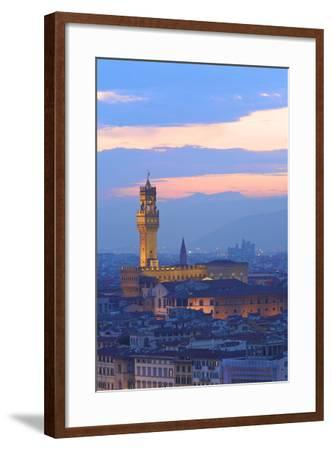 Palazzo Vecchio from Piazzale Michelangelo-Neil Farrin-Framed Photographic Print