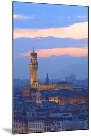 Palazzo Vecchio from Piazzale Michelangelo-Neil Farrin-Mounted Photographic Print