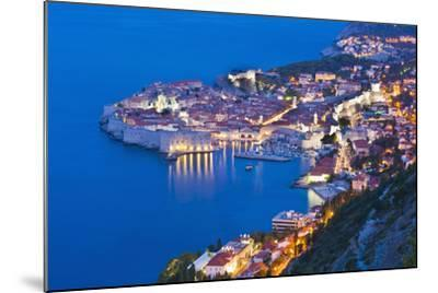 Dubrovnik Old Town at Night, Taken from Zarkovica Hill, Dalmatian Coast, Adriatic, Croatia, Europe-Matthew Williams-Ellis-Mounted Photographic Print