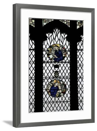 Monks in Stained Glass-Peter Barritt-Framed Photographic Print